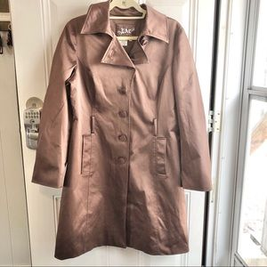"""Live A Little large brown women's """"trench"""" coat"""
